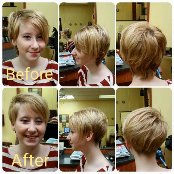 Before & After HairCut